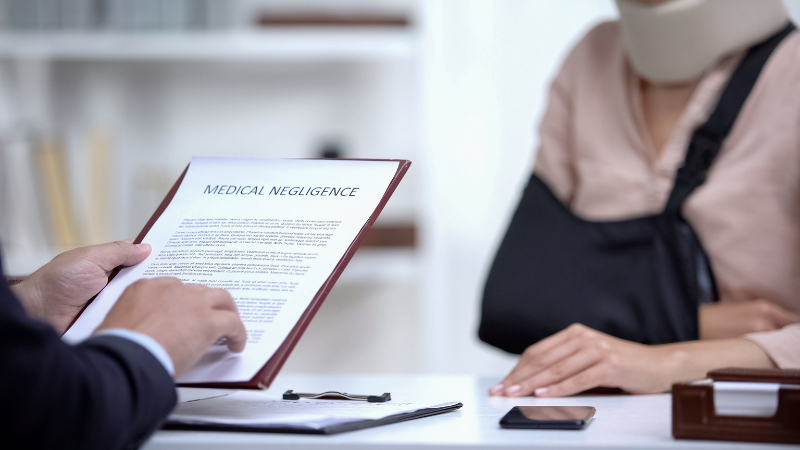 medical negligence in meeting with client