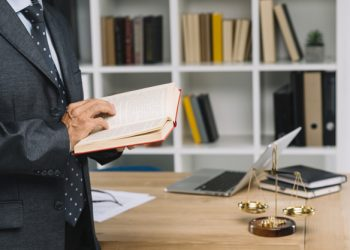 Lawyer balance desk